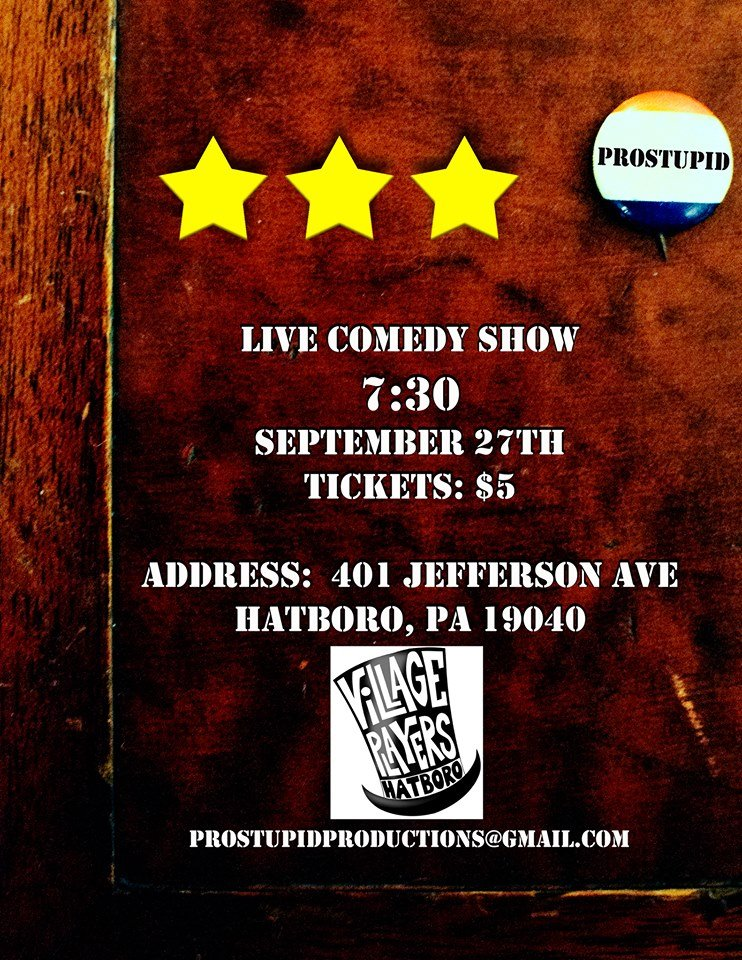 Special Event: Improv Comedy Night, September 27th