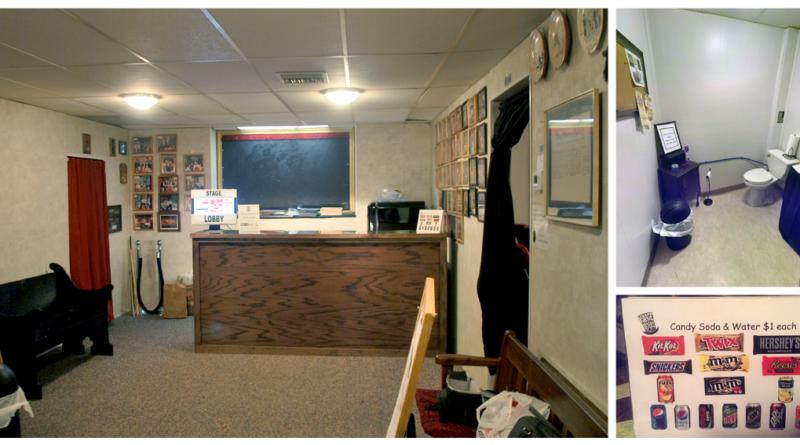 Lobby, bathroom, and concessions