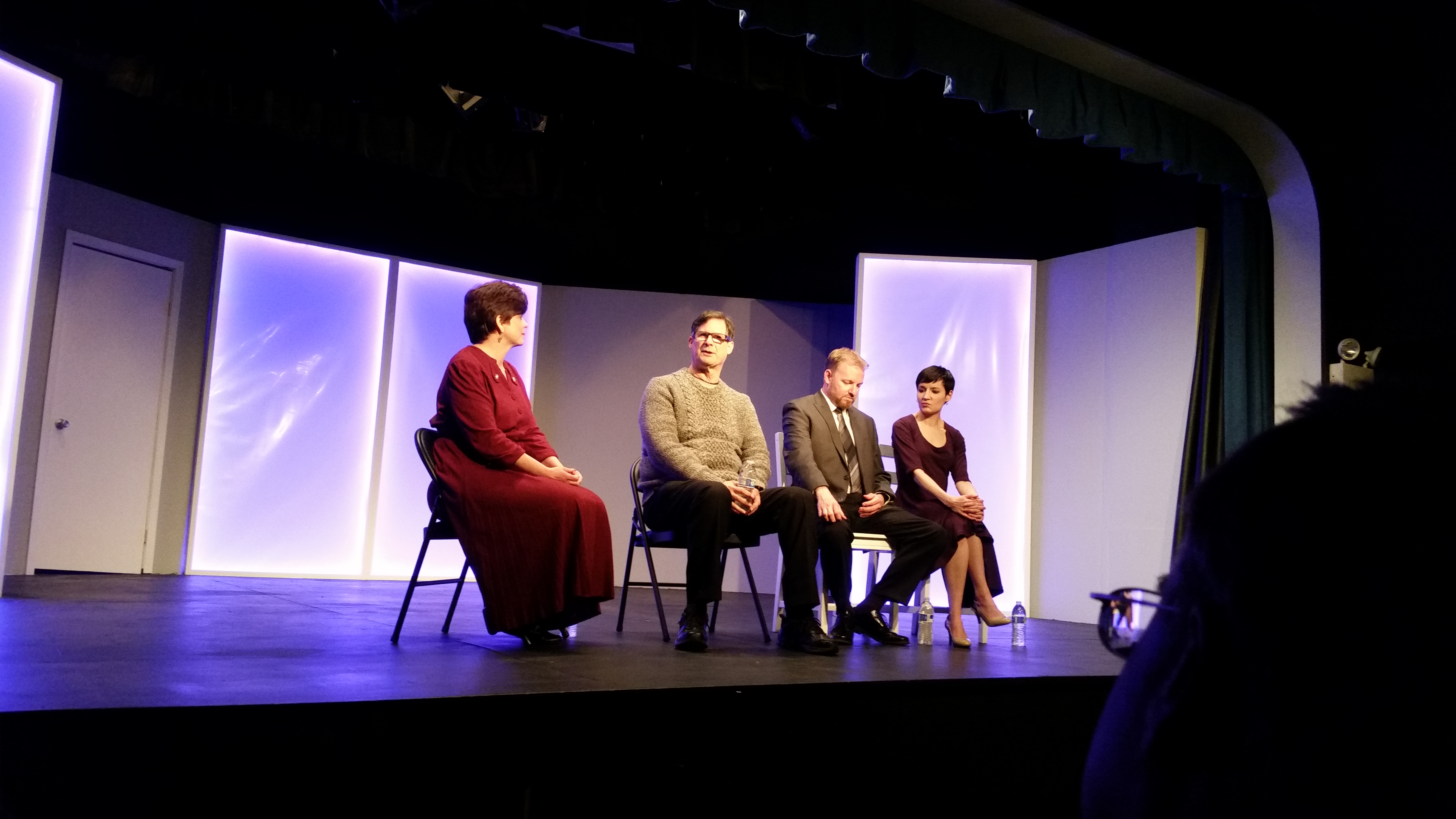 Ken Levine during Q and A at Village Players of Hatboro