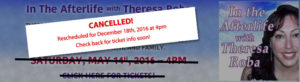 Theresa Roba May 14th event cancelled