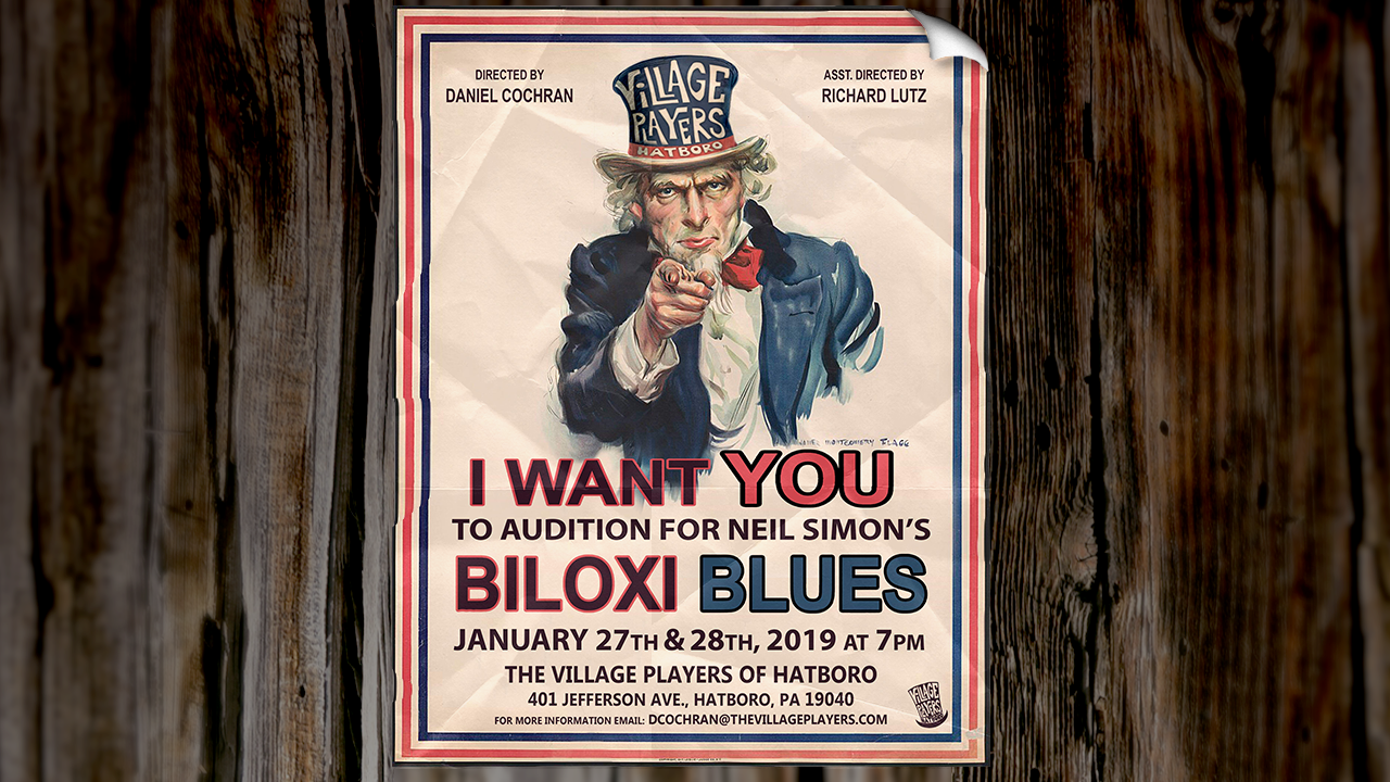 Auditions For Biloxi Blues The Village Players Of Hatboro